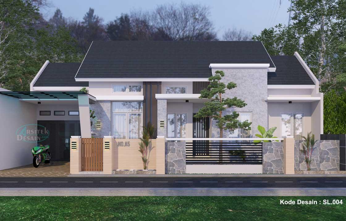 gambar desain rumah mewah 1 lantai type 150 modern